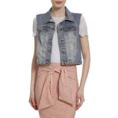 Colete Jeans Manuela. #becool #fashion #streetstyle #moda
