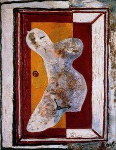 Desnudo blando - Salvador Dalí - 1928. Óleo y arena sobre lienzo. 50 x 40 cm. Propiedad particular.