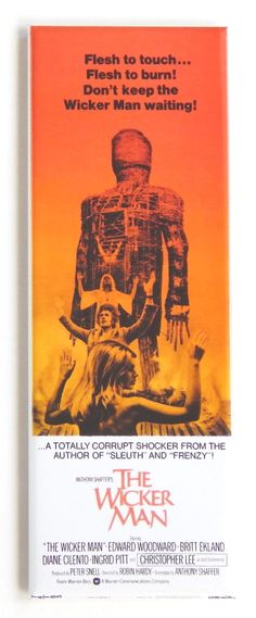 Vintage The Wicker Man 1970/'s Hammer Movie Poster Print A3//A4