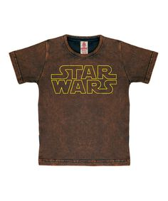 Look at this Brown Star Wars Tee on #zulily today!