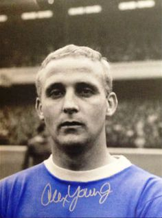 Alex Young of Everton in Bristol Rovers, Hot Blue, Everton Fc, Retro Football, Club, Football Players, Soccer, 1960s, Legends