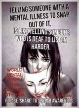 I was diagnosed with Bipolar disorder a couple of years ago but, they say it's been around for awhile and just wasn't being treated.  I hated getting this label. It made me feel like I must be some kind of crazy. But, you know what; it really doesn't make me crazy at all. I can't help that I have this. They say it was probably passed down to me because both my parents had it.  But each day after finding out I would wake up, realize I have this label, and it would get me down...