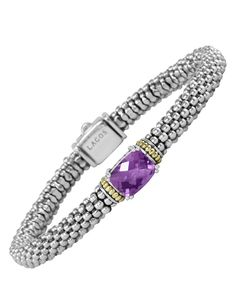 Amethyst | Caviar Bracelet | Prism | LAGOS Jewelry $495.00  Perfect for any ECU or Broughton grad!