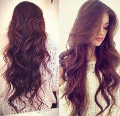 Largo y ondulado. Quisiera mi cabello asi :c