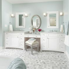 3-section vanity
