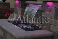 Looking to add a water feature to your outdoor space? A Colorfalls is a great choice to add the sound of water and light, with minimal maintenance. For more information, and to find a distributor or contractor near you, visit our website - www.atlanticwatergardens.com