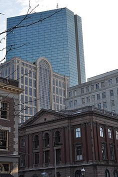 Faneuil Hall, Boston I grew up in this neighborhood, course those tall buildings in the back were not there then.