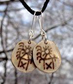 SAAMI EARRINGS, Goddess of Women, jewelry of Lapland