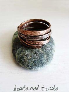 N. 2 ring {copper, handmade}