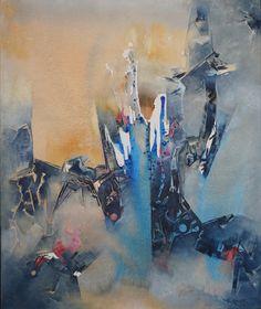 """""""Apuntando a la altura""""  - Heriberto Zorrilla - Oleo y acrílico sobre tela- 120 x 100 cm - 2008 www.esencialismo.com"""