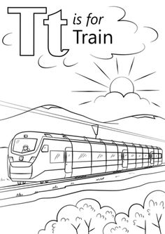 modern train coloring pages - photo#9