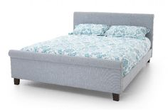 Serene Hazel 4ft Small Double Ice Fabric Bed Frame