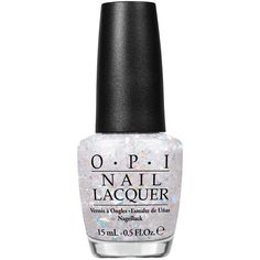 Opi Nail Laquer Snow Globetrotter (£20) ❤ liked on Polyvore featuring beauty products, nail care, nail polish, nails, beauty, makeup, filler, white glitter, womens-fashion and opi nail care