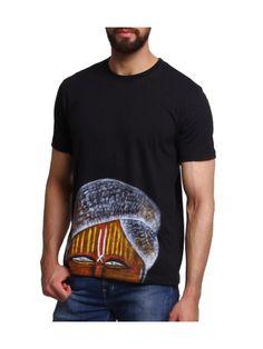 Rangrage Hand Painted Indian Men T-Shirt | Buy Black Regular Fit | Shop Online India