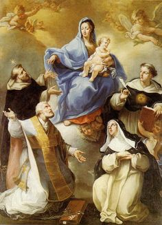 "ordopraedicatorum: ""Madonna and Child with Saints Dominic, Phillip Neri, Thomas Aquinas and Agnes of Montepulciano """