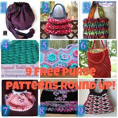 Share this:    With Christmas coming to an end and our gifts for others are made, now it's time to make something for ourselves! I grabbed 9 patterns to help you get started on your way. These just scream MAKE ME!   1: Casual Crochet Bag   2: Sassy Ruffle Bag   3: Tranquil Waves …