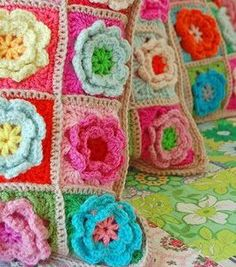 I am so excited that my Granny wants to teach me how to do the Rose Granny square at the end of the month!
