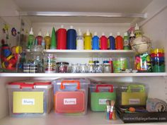 Learn with Play @ home: Organisation Ideas for an Art/Craft Cupboard