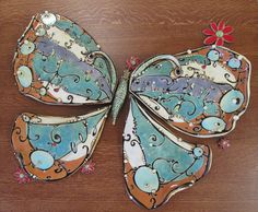 Carol Long Pottery - butterfly... I love the line quality....gorgeous!