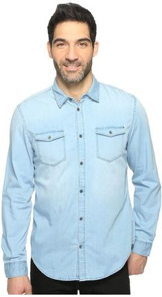 Calvin Klein Jeans Denim Shirt Men's Clothing