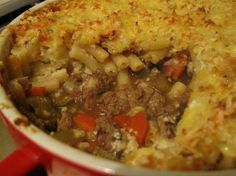 Turkey-Bottomed Macaroni-Topped Pie Recipe