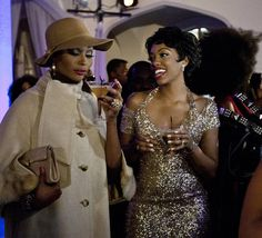 Porsha Stewart as Dorothy Dandridge with Cynthia Bailey RHOA Cynthia Bailey, Lena Horne, Dorothy Dandridge, Fascinator, My Girl, Costumes, Beauty Ideas, Hair, Girls