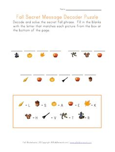 Printable Fall Worksheets For Kids Check Out Our Collection Of With A Theme We Have Word And Picture Matching
