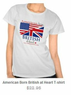 Zazzle is having a Spring Fling sale on my British at Heart items today. (It's spring? Could 'ave fooled me!) Save 30% on t-shirts by using the code SPRINGSFLING at checkout. www.zazzle.com/smittenbybritain*