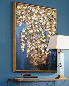 Original Acrylic Abstract Flower Painting Flower Tree Painting Textured Abstract Painting Modern Painting Wall Art Canvas by Julia Kotenko by JuliaKotenkoArt on Etsy
