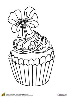 Home Decorating Style 2020 for Cupcake Coloriage, you can see Cupcake Coloriage and more pictures for Home Interior Designing 2020 at Coloriage Kids. Cupcake Coloring Pages, Coloring Book Pages, Printable Coloring Pages, Coloring Sheets, Cupcake Drawing, Cupcake Art, Seashell Tattoos, Icon Png, Birthday Wishes For Friend