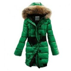 Moncler Pop Star Puffer Long Down Green Coat Women Sale The warmth of down in a fashion-forward fitted shape,clinched with an elastic belt with polished logo plaque.Attached hood with drawstring close. - Front zipper;Allover horizontal quilting;Front pockets - Three-quarter length;Polyester/nylon;Down fill;Dry clean - Style:Long coat - Color:Green