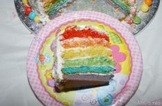 fetta rainbow cake