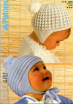 Vintage PDF Baby Knitting Pattern  Patons 3072  by BouncinBaby, £1.25