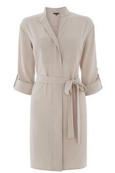 Jumpers & Cardigans | Grey ZIP FRONT SHIRT DRESS | Warehouse