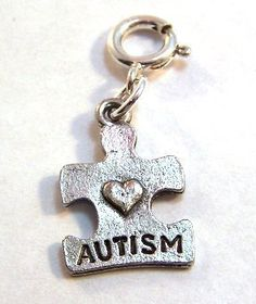autism puzzle piece charm..near and dear to my heart