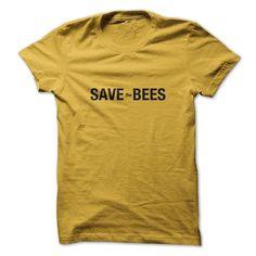 Sun Frog Shirts Women's Save The Bees T-Shirt Medium Daisy