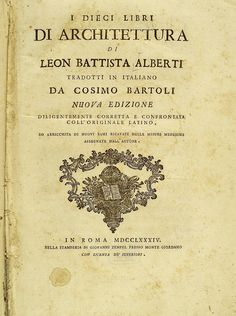 Ten Books on Architecture by Leon Battista Alberti