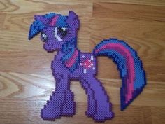 Twilight Sparkle My little Pony perler beads by simplyputmyself on deviantart