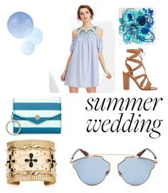 """""""Blue mood"""" by buttercupx0 ❤ liked on Polyvore featuring Marc Jacobs, Gianvito Rossi, Aurélie Bidermann and Christian Dior"""