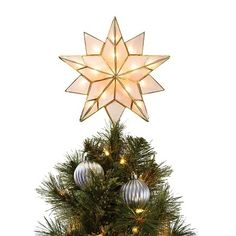 7ft Pre-Lit Artificial Christmas Tree Silver Tinsel Alberta Spruce ...