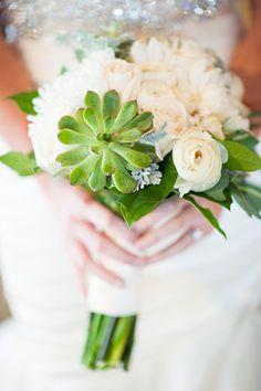 bridal bouquet succulent