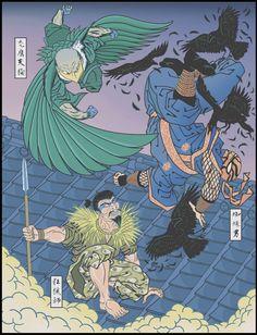 Fantasy Comics, Anime Fantasy, Marvel Art, Marvel Comics, The Sinister Six, Kraven The Hunter, Arte Nerd, Samurai Artwork, Traditional Japanese Art