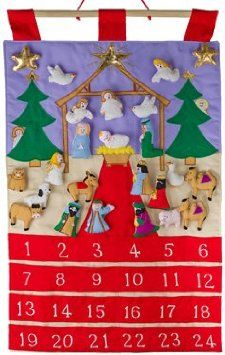 Amazon.com - Holy Night Fabric Advent Calendar