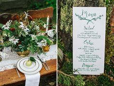 Paper & Calligraphy: Antiquaria | Table Top: Vintage Ambiance | Floral: Botanique | Photo: Jess Hunter feat. on Green Wedding Shoes
