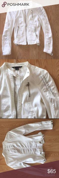 Armani exchange Armani white gorgeous jacket in size medium A/X Armani Exchange Jackets & Coats