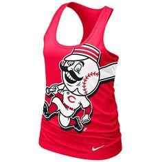 Cincinnati Reds Women's Loose Fit Racerback Tank by Nike  - MLB.com Shop
