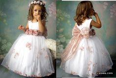 Vestido para pajecitas   El BodaBlog de rosa angelica y Juan Manuel