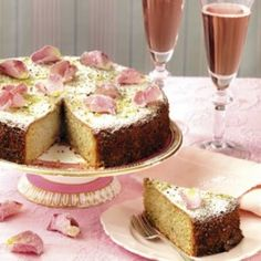 Pistachio and rose water cake. It was lush!