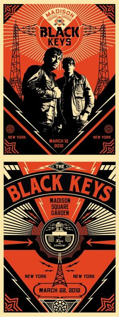 The Black Keys gig posters by Shepard Fairey