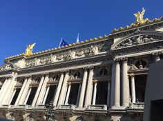 Academie Nationale de Musique set against a perfectly Parisian blue sky.